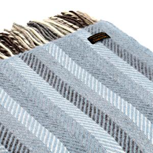 Tweedmill uldplaid - Stripe Blue