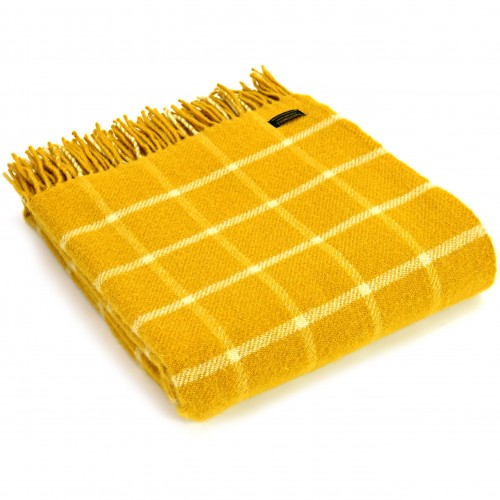 Tweedmill uldplaid - Chequered Check Yellow