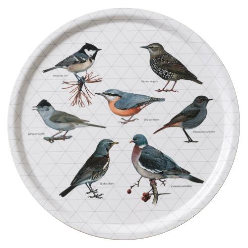 Koustrup & Co. serveringsbakke - fugle