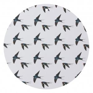 Koustrup & Co. skærebræt/vægdekoration - fugle/svaler