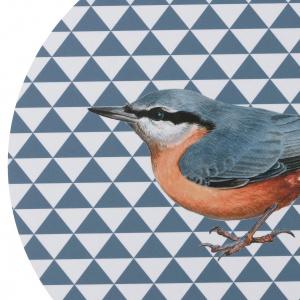 Koustrup & Co. skærebræt/vægdekoration - sortmejse/spætmejse