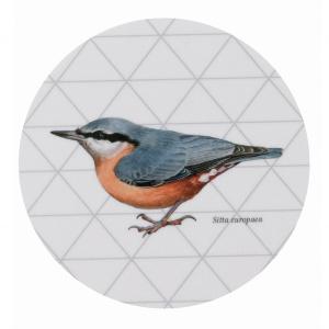 Koustrup & Co. glasunderlag - sortmejse/spætmejse