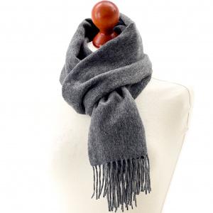 Tweedmill tørklæde i lammeuld - Silver Grey