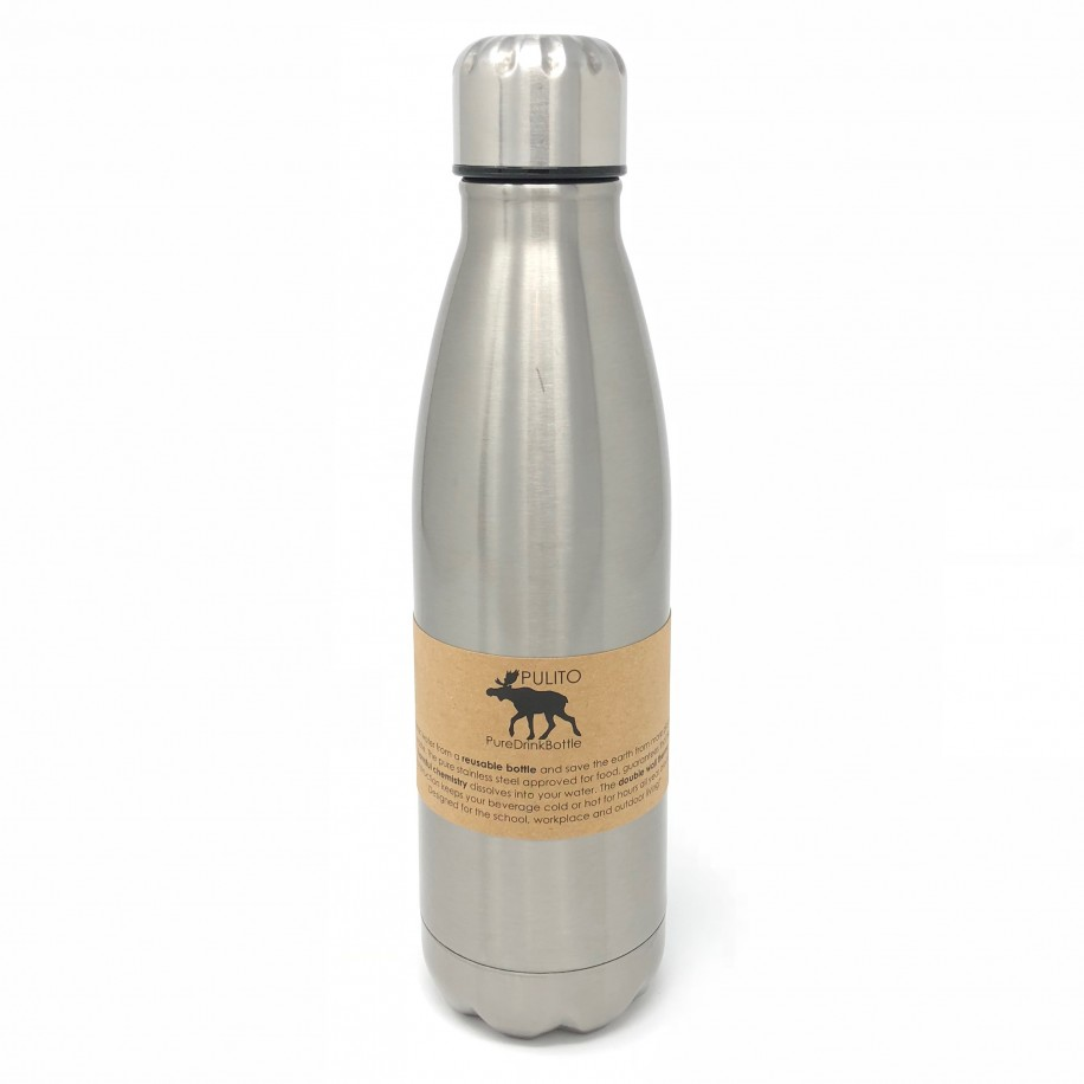 Pulito termo drikkeflaske i stål - flere str.