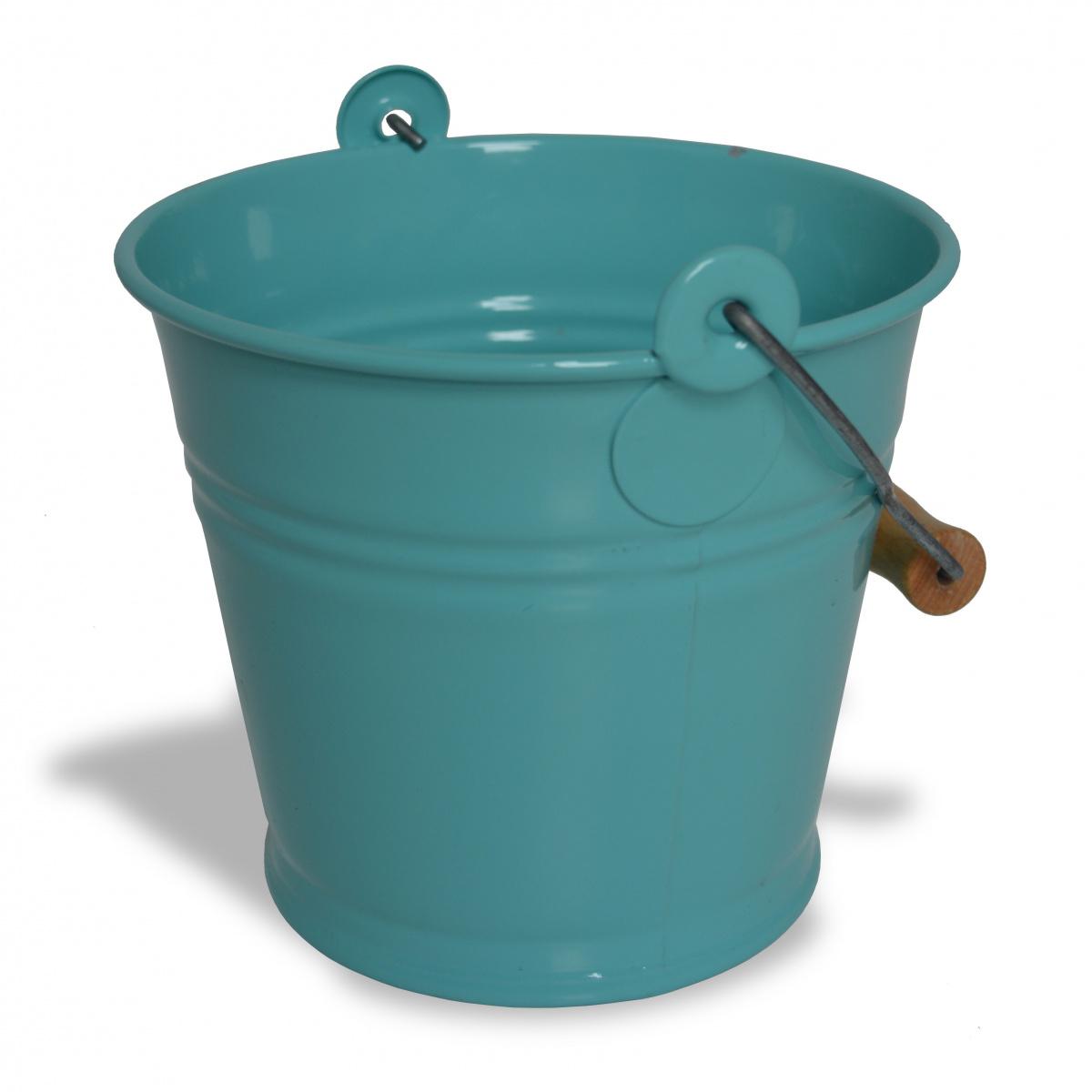 Zinc & Jardin 1,5 L spand med hank - blå
