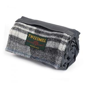 Tweedmill picnictæppe til 1 pers. - Grey / Grey