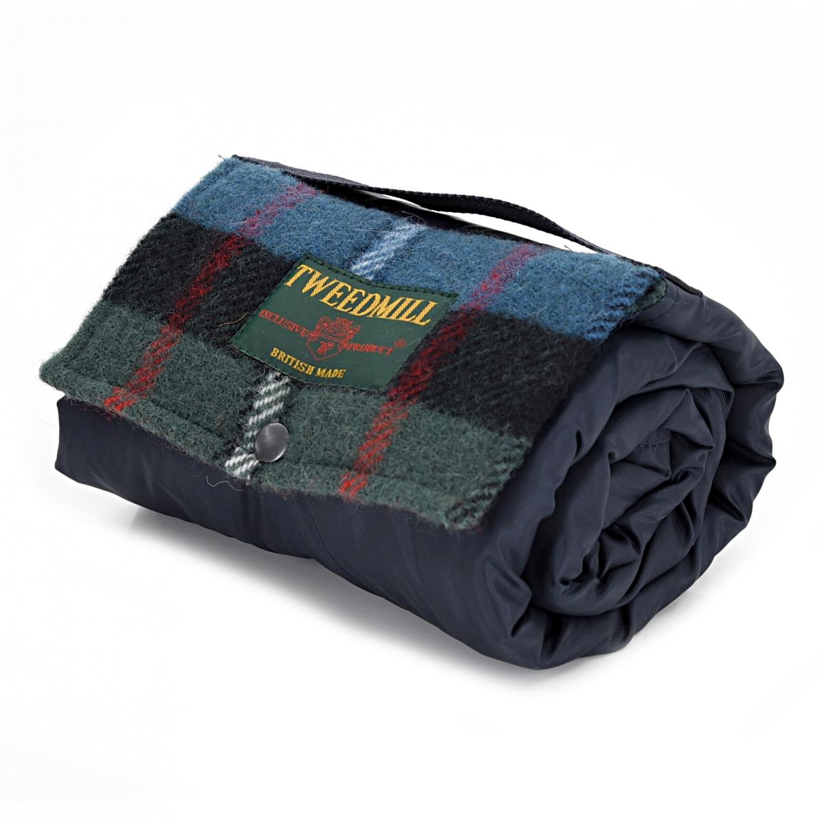 Tweedmill picnictæppe til 1 pers. - Navy / Ferguson