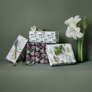 Koustrup & Co. gavepapir - blomster og urter