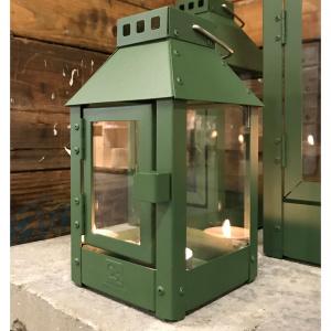 A2 Living lanterne, olivengrøn stål - 25 cm