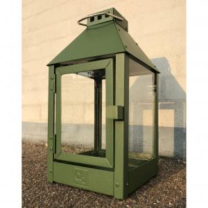 A2 Living lanterne, olivengrøn stål - 33 cm