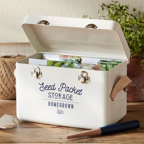 Burgon & Ball opbevaringskasse til frøposer - lys creme