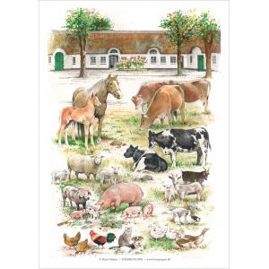Koustrup & Co. plakat i A2 - gårdens dyr