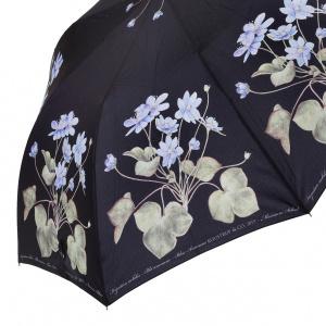 Koustrup & Co. foldeparaply med blå anemone