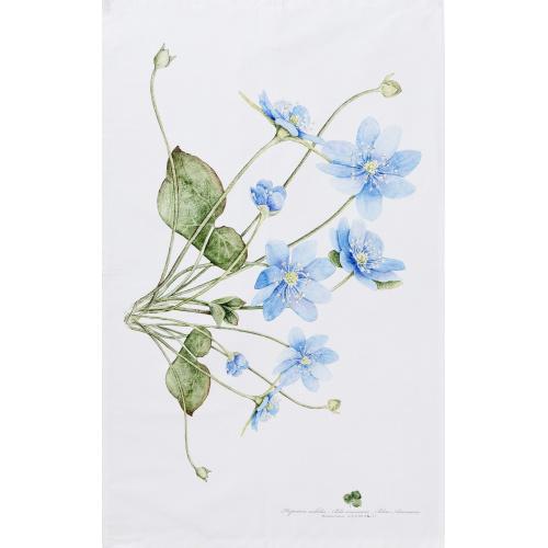 Koustrup & Co. øko viskestykke - blå anemone