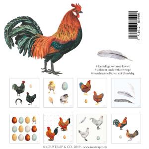 Koustrup & Co. kortmappe - høns