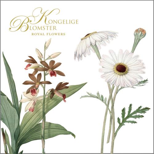 Koustrup & Co. kortmappe - kongelige blomster