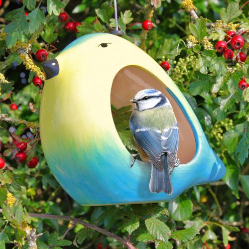Wildlife World foderbræt i keramik - blåmejse