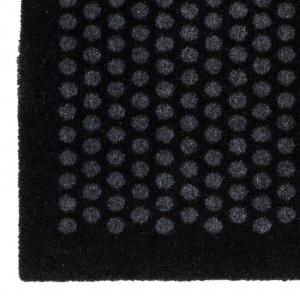 Tica dørmåtte, 90x130 - Prikker, sort/grå