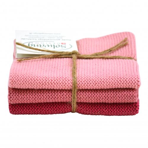 Solwang karklude, 3 stk. - antik rosa kombi