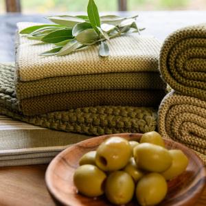 Solwang karklude, 3 stk. - oliven kombi