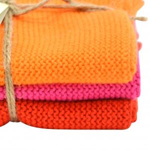 Solwang karklude, 3 stk. - orange/pink/rød