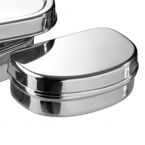 Pulito madkasse i rustfrit stål - oval