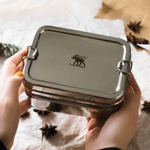 Pulito 3-i-1 øko madkasse i rustfrit stål