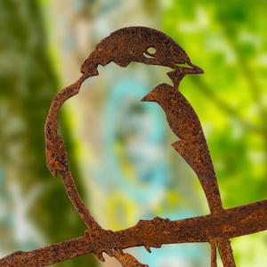 Metalbird fugl i cortenstål - svaler