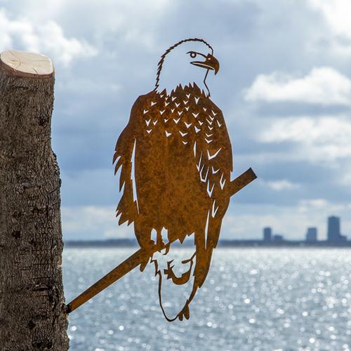 Metalbird fugl i cortenstål - ørn