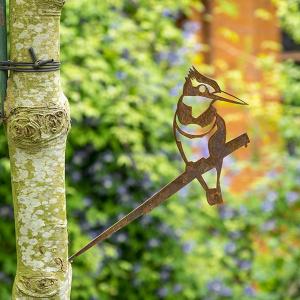 Metalbird fugl i cortenstål - isfugl