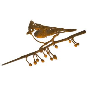 Metalbird fugl i cortenstål - topmejse