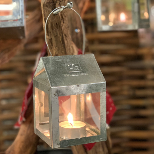 A2 Living lanterne til fyrfadslys - galv.