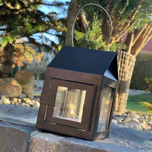 A2 Living lanterne til fyrfadslys - sort