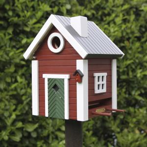 Wildlife Garden fuglehus/foderautomat - rød