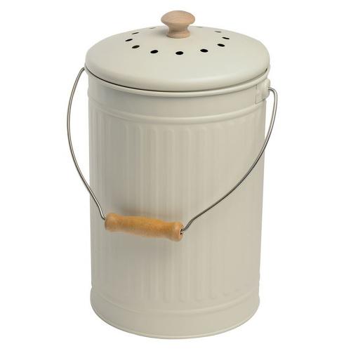 Eddingtons kompostspand med kulfilter - 7 L, beige