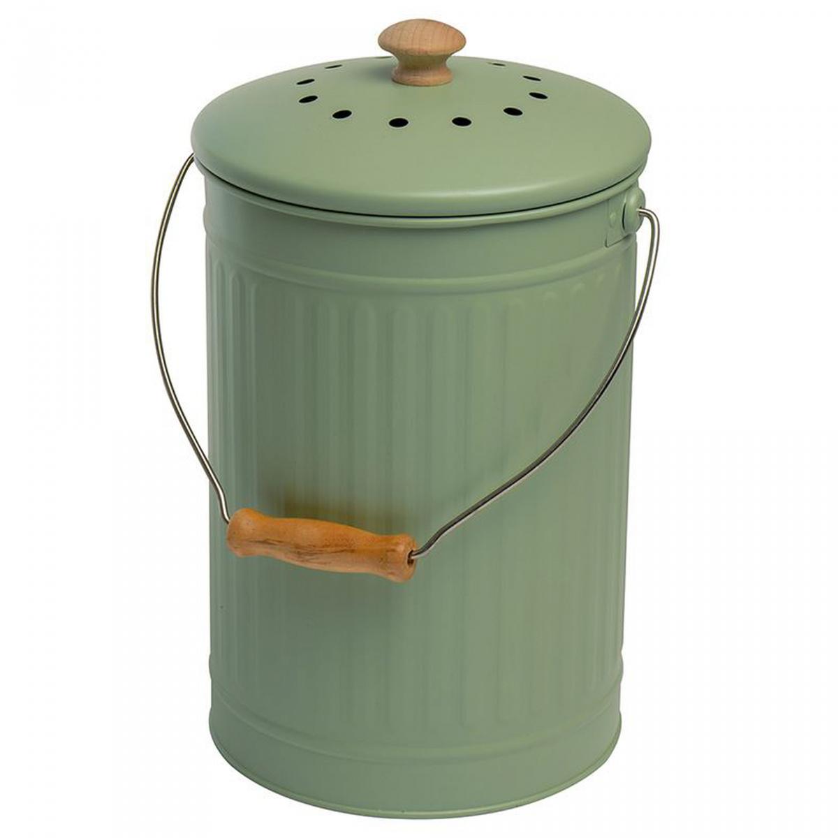 Eddingtons kompostspand med kulfilter - 7 L, grøn
