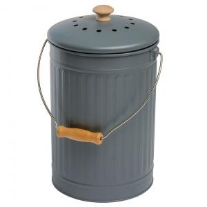 Eddingtons kompostspand med kulfilter - 7 L, grå