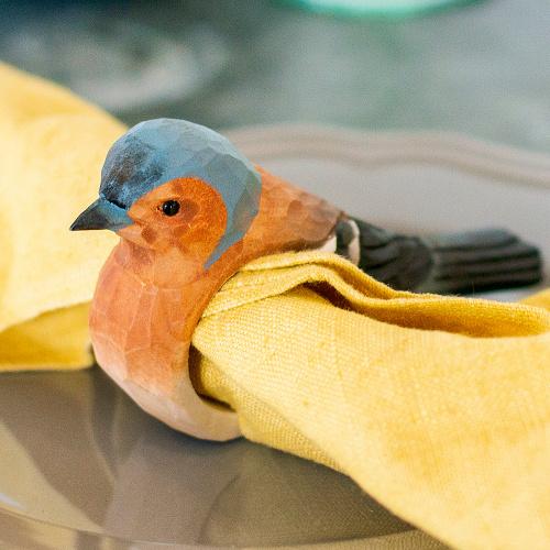 Wildlife Garden servietring - bogfinke