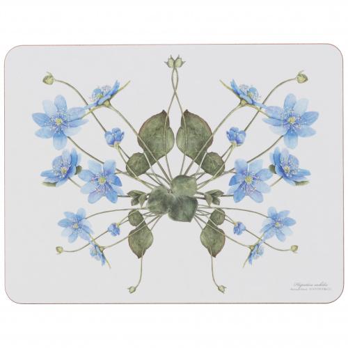 Koustrup & Co. dækkeserviet - blå anemone