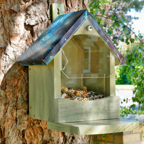Wildlife World egern foderhus med kobbertag
