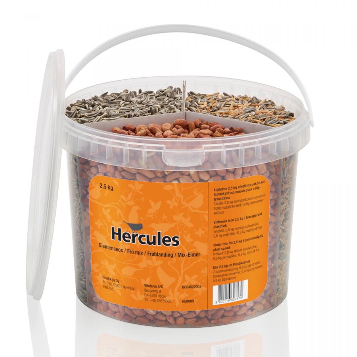 Hercules fuglefoder - 3-i-1 blanding, 2,5 kg