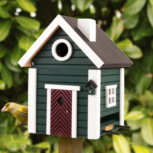 Wildlife Garden fuglehus/foderautomat - grøn