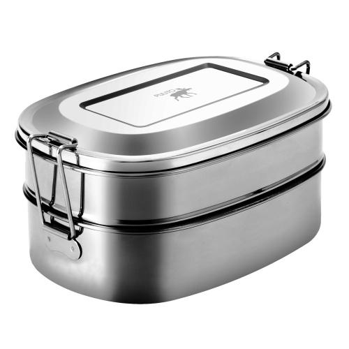 Pulito 2-i-1 madkasse i rustfrit stål